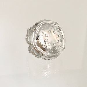 "Champers Ring 14K White Gold set with ten diamonds and Your ""Vintage"""