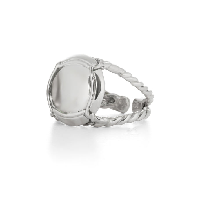 Champagne Baby Ring, smallest size capsule ring by Laura Lobdell