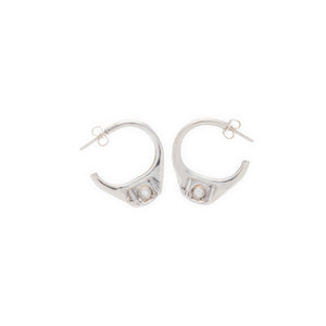 Pull Tab Earrings with diamonds by Laura Lobdell