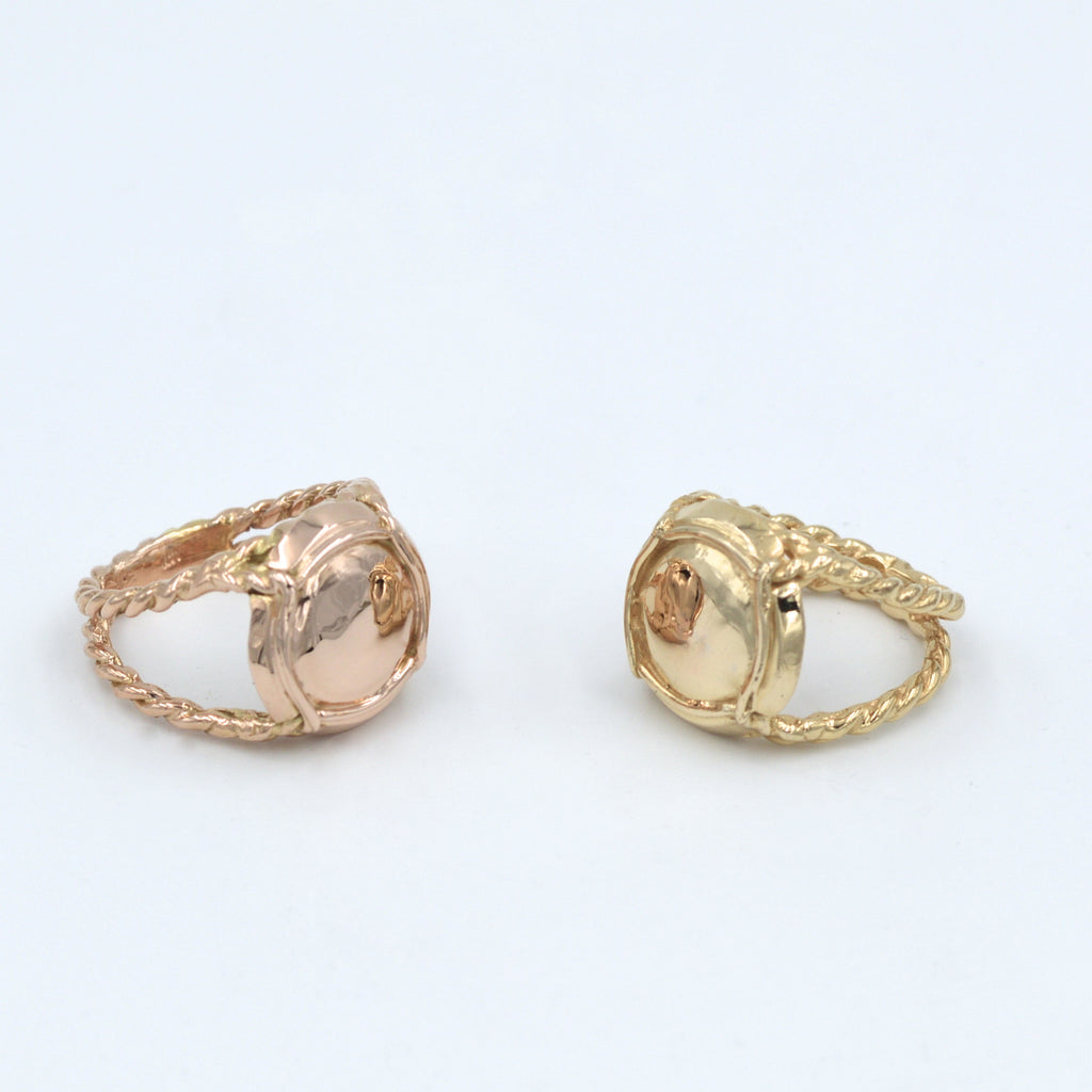 Champers, Baby Ring shown in rose gold and yellow gold - lauralobdell.com