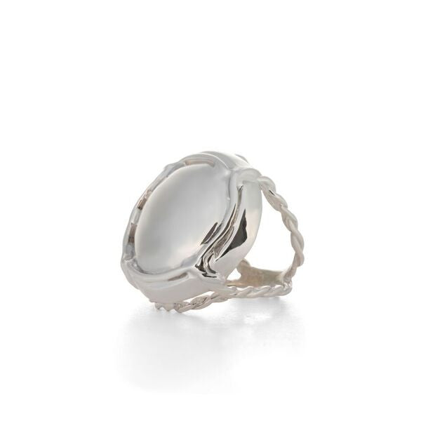 Champagne Cap Ring designed by Laura Lobdell in silver