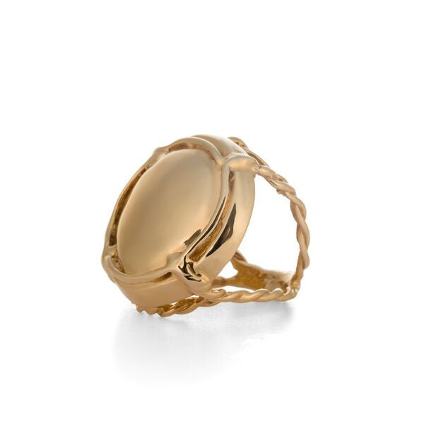 Champers Ring, looks like a gold Champagne Cap by Laura Lobdell