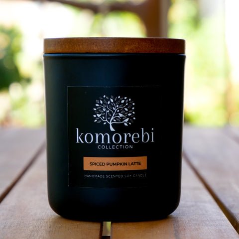Pumpkin Spice Latte Soy Candle by Komorebi Collection Australia