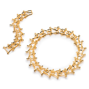 MARCY LINK NECKLACE & BRACELET - GOLD PLATED #POWEROFTHEPAIR SET