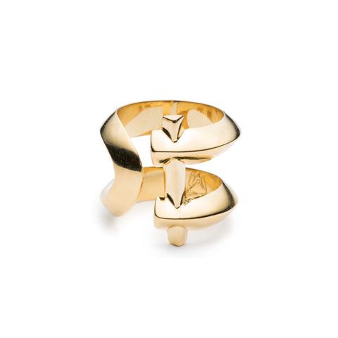 MARCY RING - 18K GOLD PLATED BRASS
