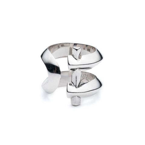 MARCY RING - SILVER PLATED BRASS