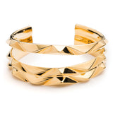 PRIZM THREE ROW CUFF - 18K GOLD PLATED BRASS