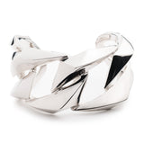 PRIZM LARGE CUFF - SILVER PLATED BRASS