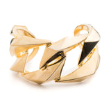 PRIZM LARGE CUFF - 18K GOLD PLATED BRASS