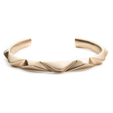 PRIZM CUFF - Matte Gold Plated Brass