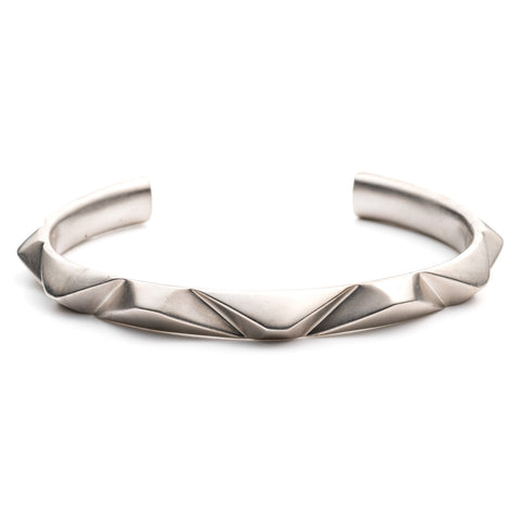 PRIZM CUFF - Antique Silver Plated Brass
