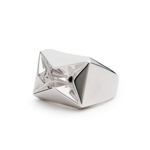 PRIZM SIGNET RING - SILVER PLATED BRASS