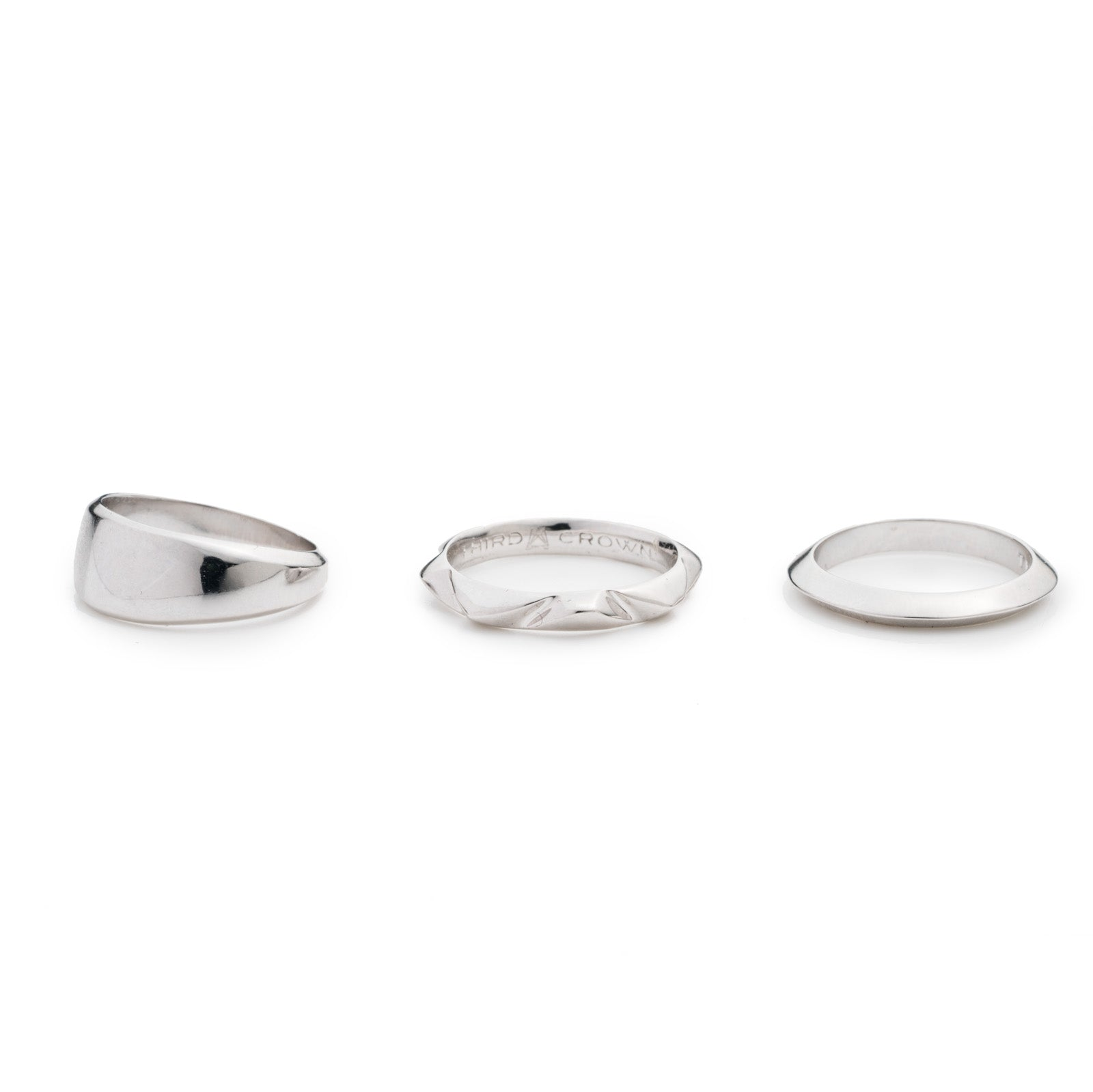 PRIZM RING SET - SILVER PLATED BRASS