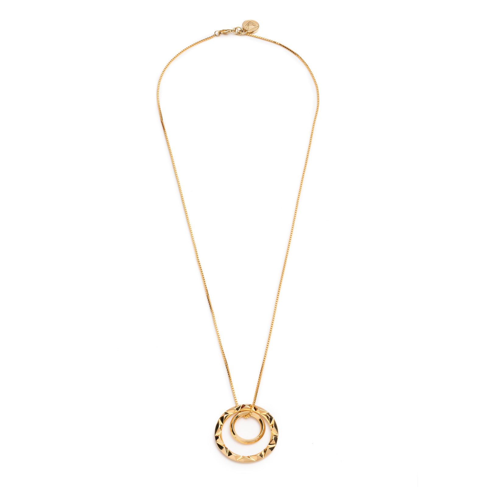 PRIZM DOUBLE PENDANT NECKLACE - Gold Plated Brass