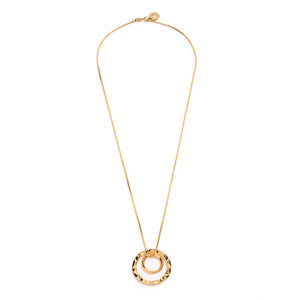 PRIZM DOUBLE PENDANT NECKLACE - 18k Gold Plated Brass