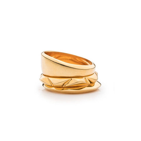 PRIZM RING SET - 18K GOLD PLATED BRASS