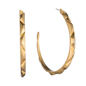 PRIZM HOOP EARRINGS - 18K GOLD PLATED BRASS