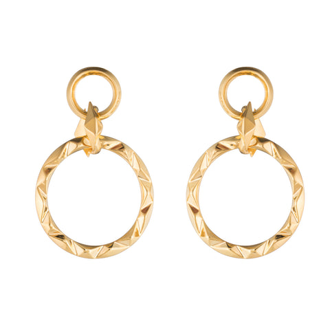PRIZM DROP EARRINGS - 18K GOLD PLATED BRASS