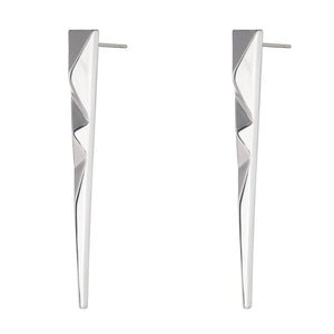 PRIZM SPIKE EARRINGS - SILVER PLATED BRASS