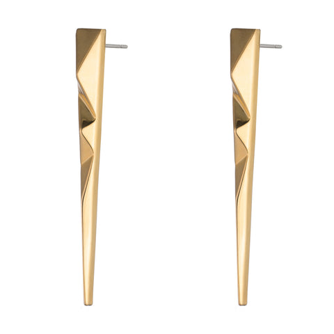 PRIZM SPIKE EARRINGS - 18K GOLD PLATED BRASS