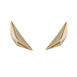 PRIZM STUD EARRINGS - 18K GOLD PLATED BRASS