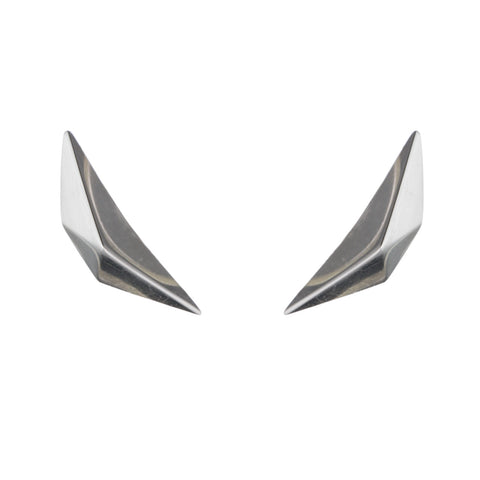 PRIZM STUD EARRINGS - SILVER PLATED BRASS