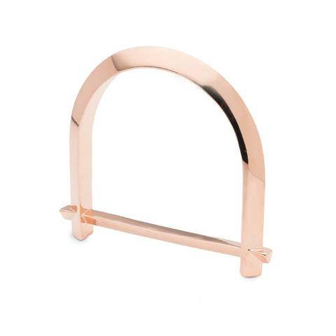ARC BANGLE - 14K ROSE GOLD PLATED BRASS
