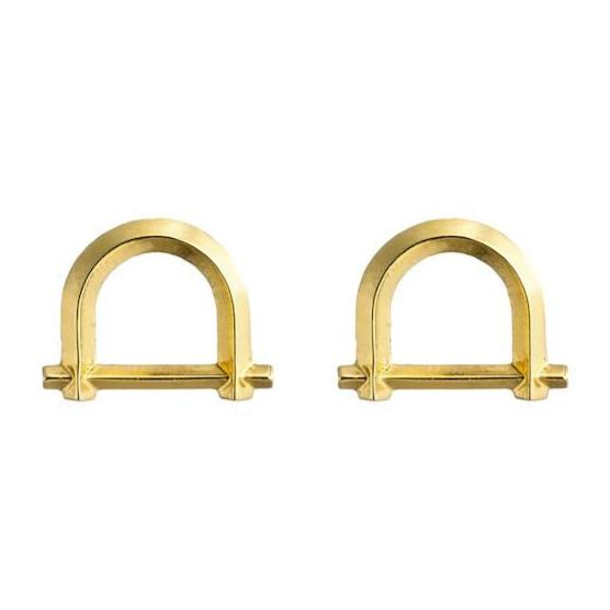 ARC STUD EARRINGS - 18K GOLD PLATED BRASS