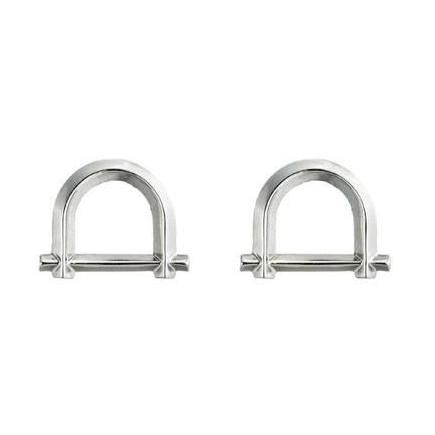 ARC STUD EARRINGS - SILVER PLATED BRASS