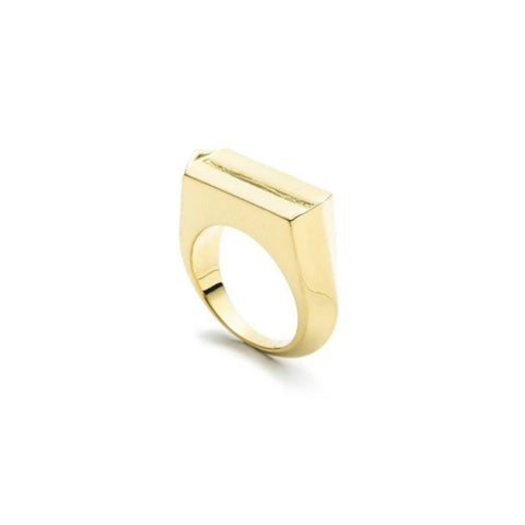 HEDRON ZERO RING - GOLD PLATED BRASS