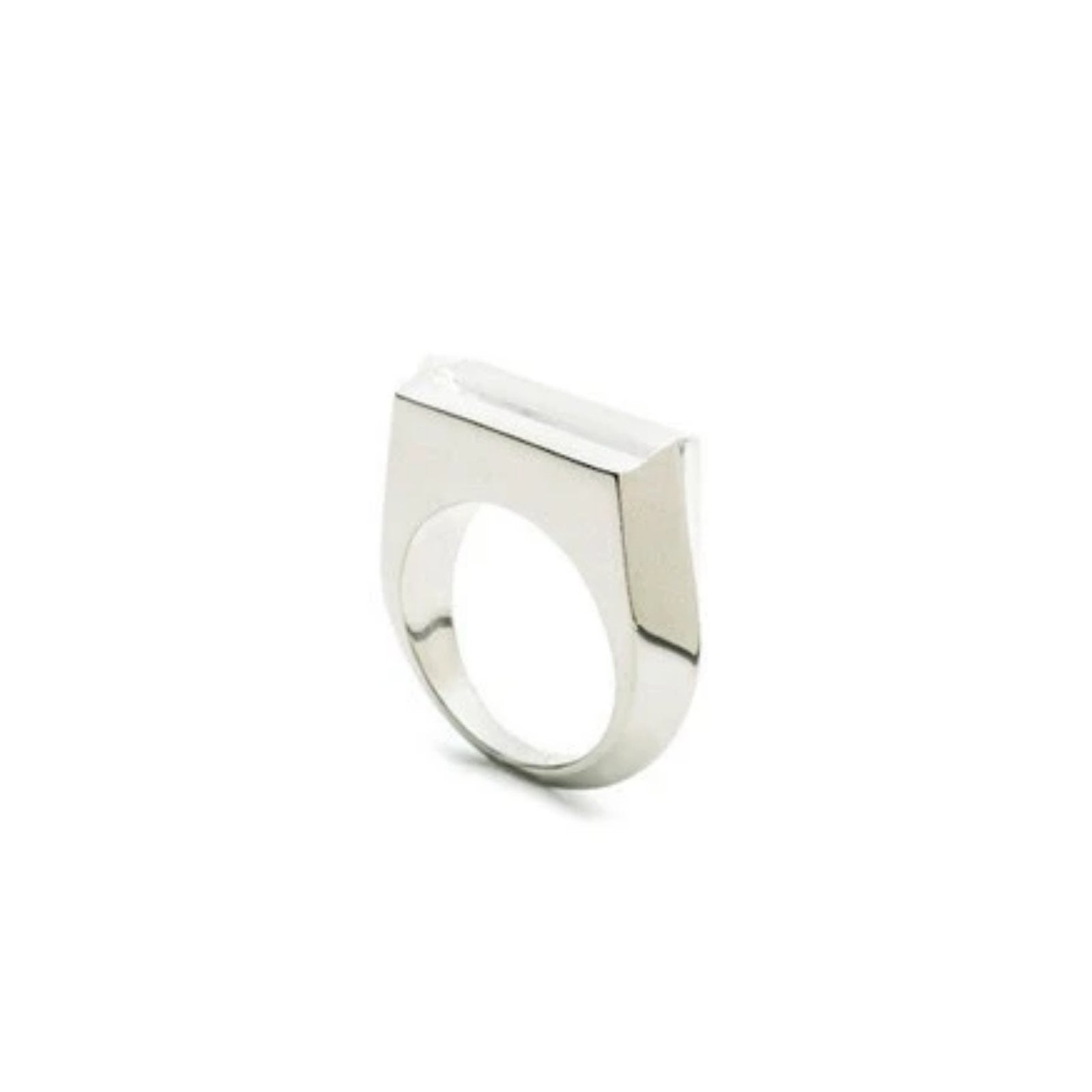 HEDRON ZERO RING - SILVER PLATED BRASS