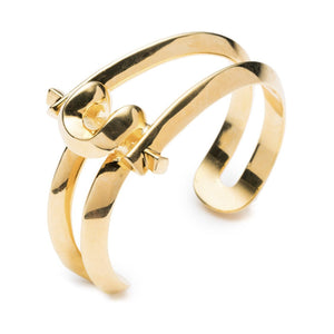 Marcy Small Cuff - 18k Gold Plated Brass