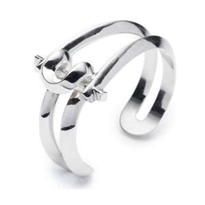 Marcy Small Cuff - Silver Plated Brass