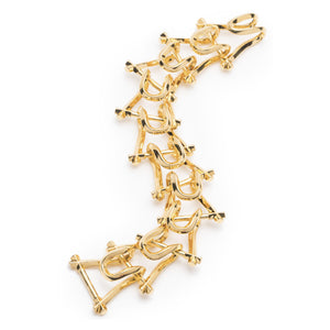 MARCY LINK BRACELET - GOLD PLATED BRASS