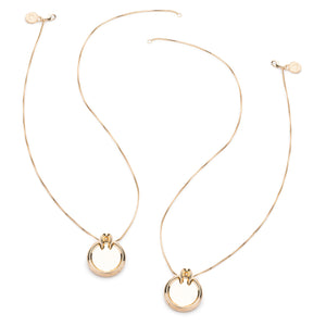 MARCY PENDANT NECKLACES - 18K GOLD PLATED #POWEROFTHEPAIR SET