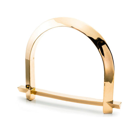 ARC BANGLE - 18K GOLD PLATED BRASS