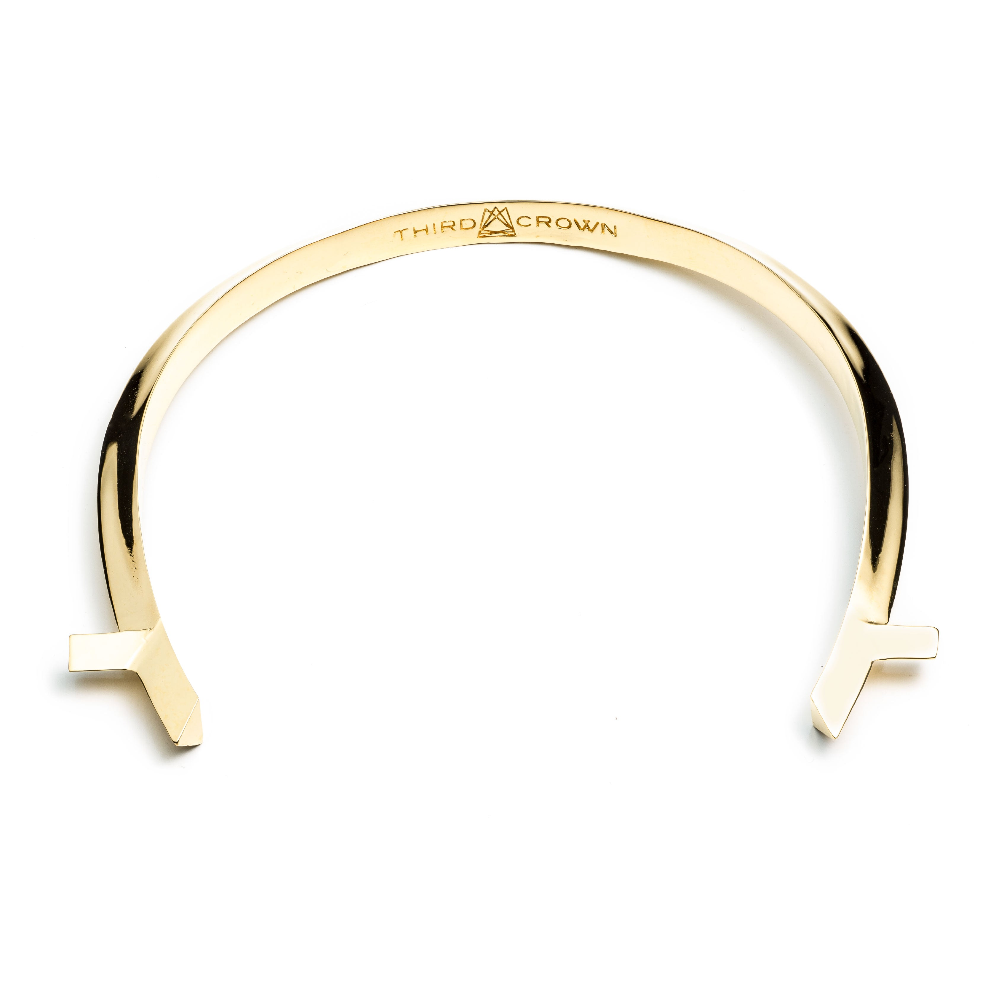 ARC CHOKER - GOLD PLATED BRASS