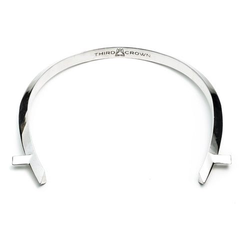 ARC CHOKER - SILVER PLATED BRASS