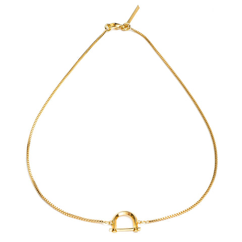 ARC NECKLACE - 18K GOLD PLATED BRASS