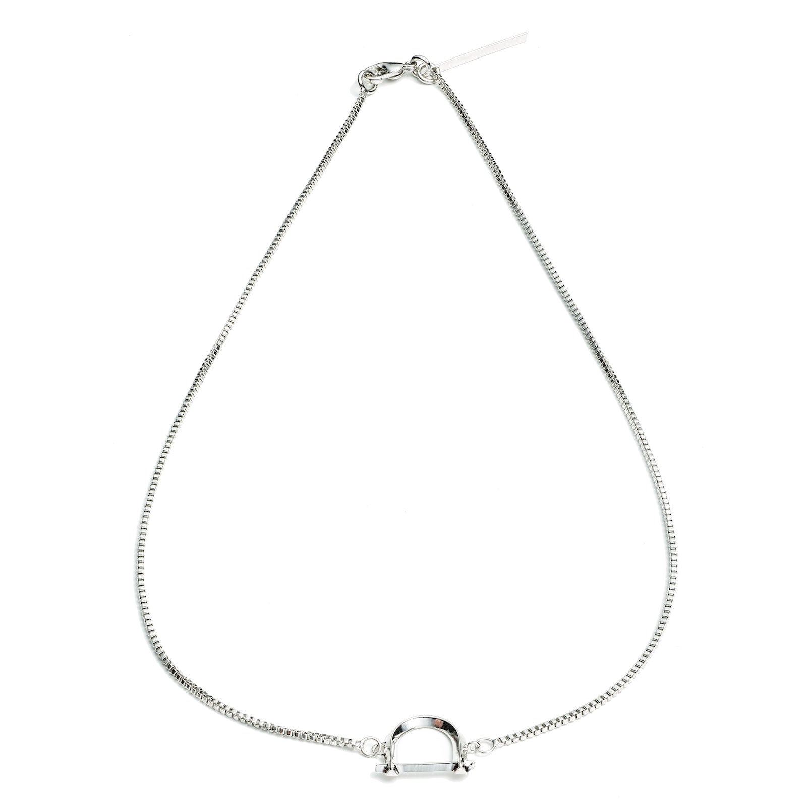 ARC NECKLACE - SILVER PLATED BRASS