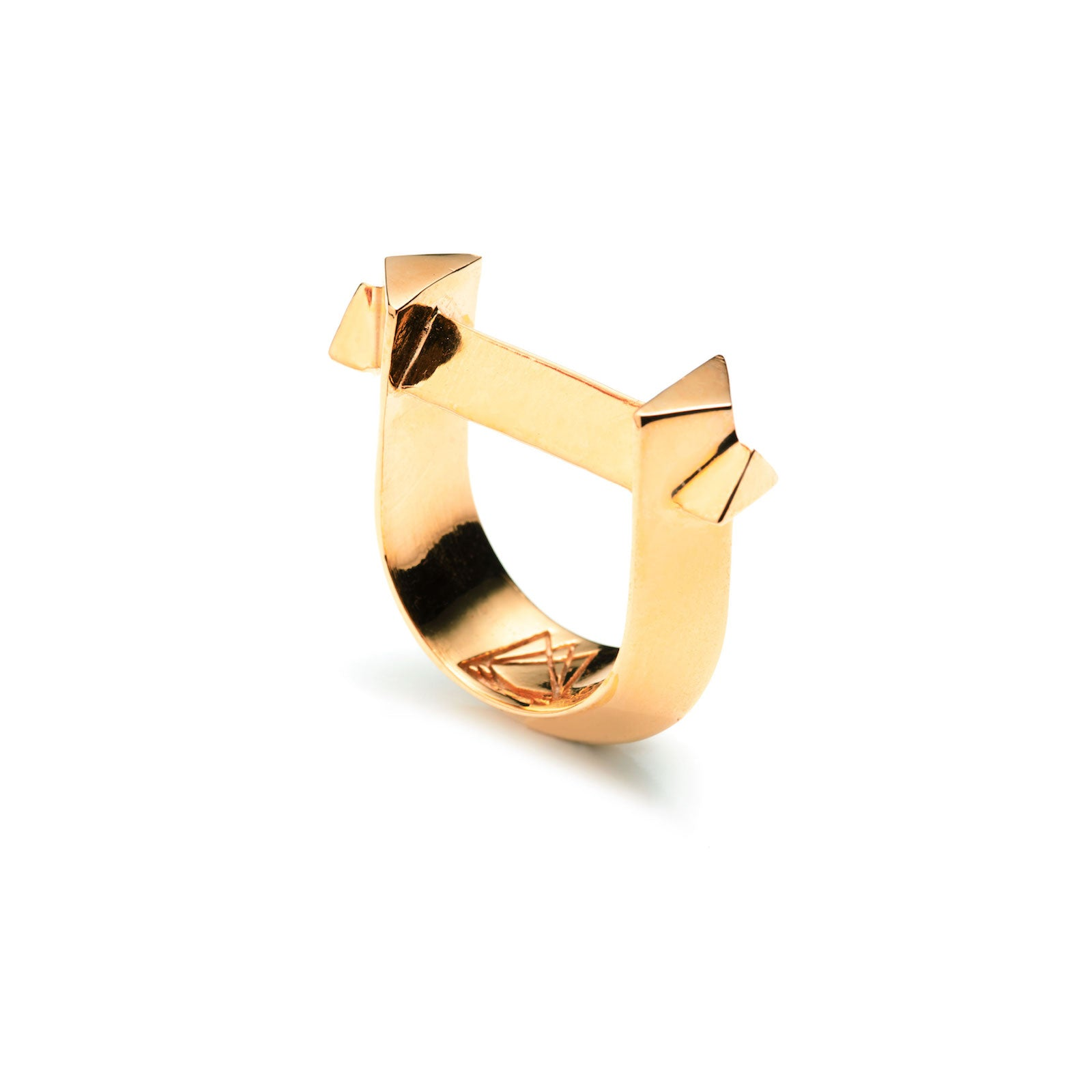 ARC RING - 18K GOLD PLATED BRASS