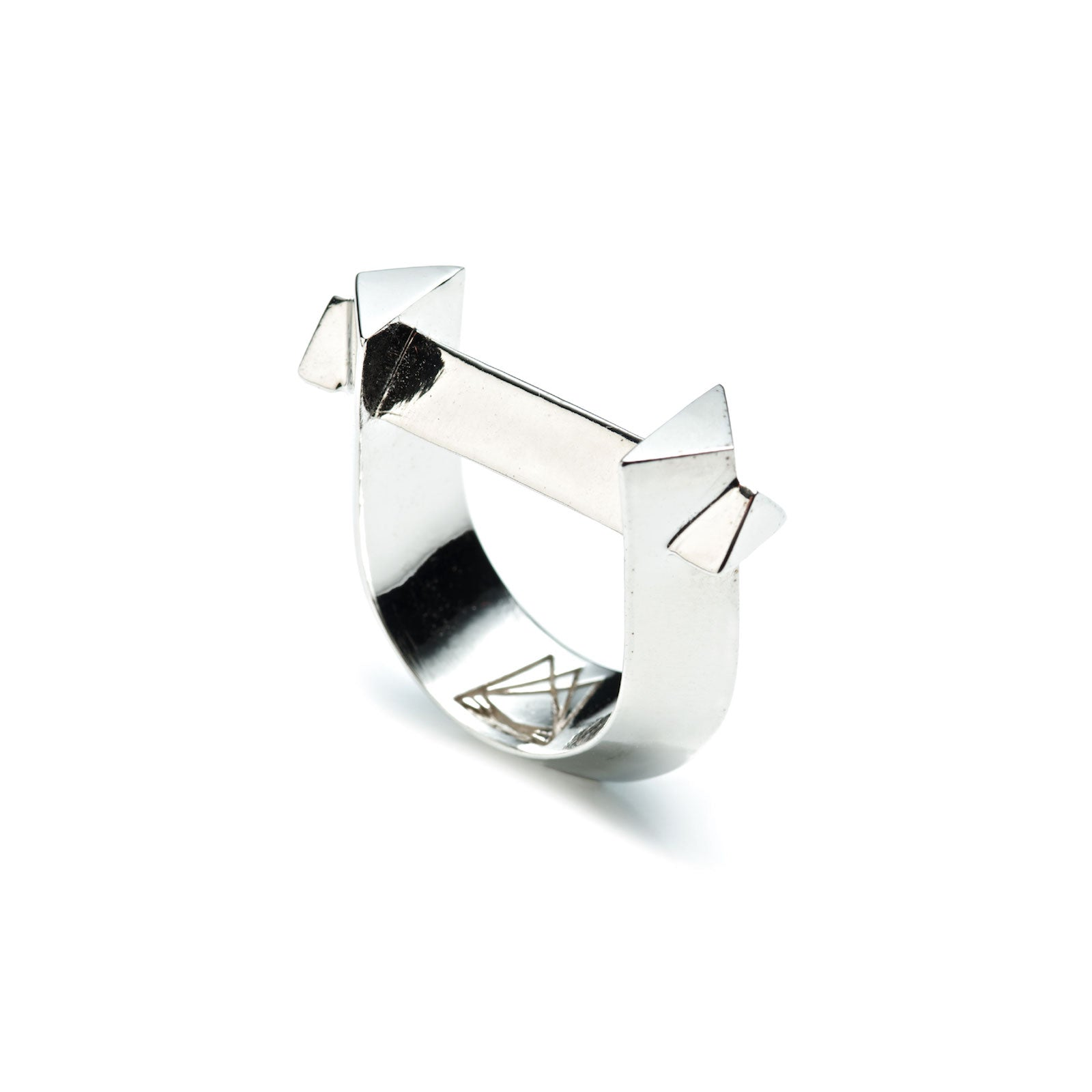 ARC RING - SILVER PLATED BRASS