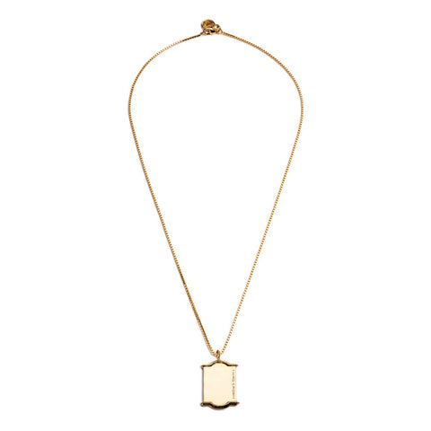 HEDRON DOG TAG NECKLACE - GOLD PLATED BRASS