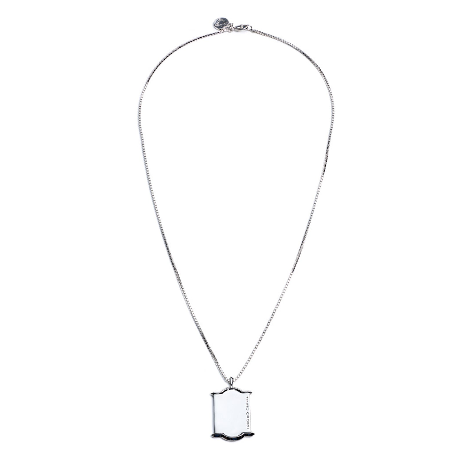 HEDRON DOG TAG NECKLACE - SILVER PLATED BRASS