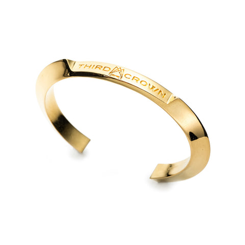 HEDRON ID CUFF - GOLD PLATED BRASS