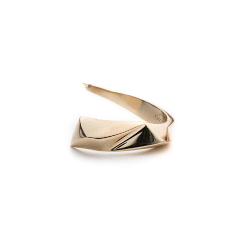 PRIZM WRAP RING - 18K GOLD PLATED BRASS