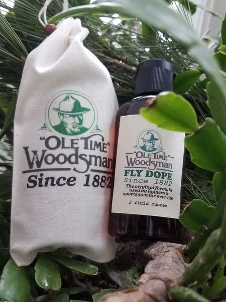 "The Ole Time Woodsman Fly Dope challenge to chemical mosquito ""repellents""!"