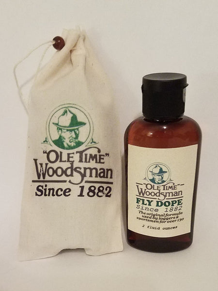 FINALLY SCIENCE IS CATCHING UP TO OLE TIME WOODSMAN FLY DOPE SINCE 1882