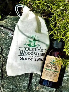 "Ole Time Woodsman HUNTER'S 1800's Scent Cover (Free Shipping in USA) - Ole Time Woodsman Fly Dope ""Since 1882, The World's First and Best Protection Against All Biting Insects!"""