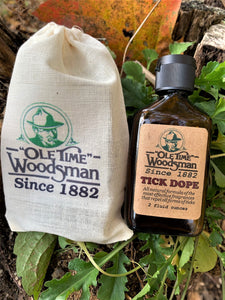 "Ole Time Woodsman Since 1882 Tick Dope (Free Shipping in USA) - Ole Time Woodsman Fly Dope ""Since 1882, The World's First and Best Protection Against All Biting Insects!"""